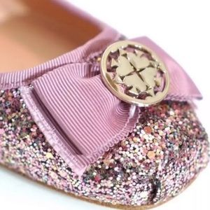 Kate Spade Rose Gold Fontana Too Flats Size 8